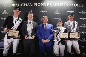 Das Podium des LGCT Super Grand Prix