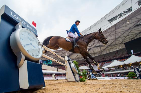 Germany's Christian Ahlmann competing in the Longines Equestrian Beijing Masters 2017