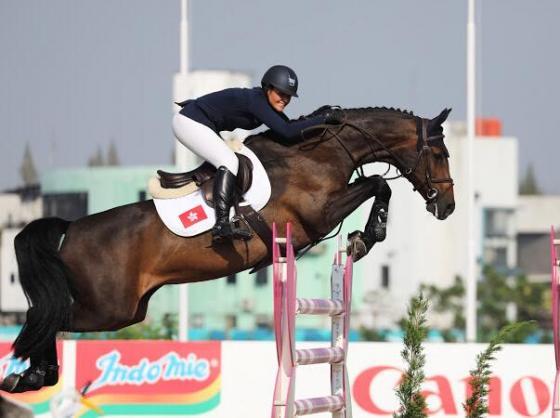 Clarissa und Catokia belegn Rang 9 in der Einzelwertzung der Asian Games 2018