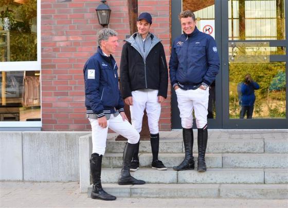 Drei Olympiasieger im Springreiten _ Ludger Beerbaum, Steve Guerdat und Jeroen Dubbeldam (v.l.) - Foto: RI